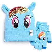 My Little Pony Girls Rainbow Dash Sparkle Hat & Gloves Set