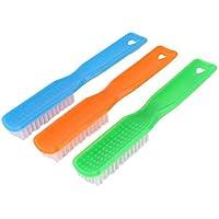 DealMuxプラスチックブラシクリーニングツール3枚をスクラブホームバスルームの服の靴を扱います