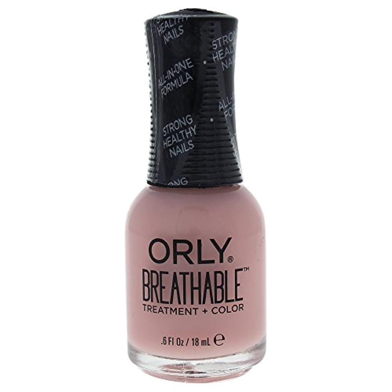 周術期チャップ生Orly Breathable Treatment + Color Nail Lacquer - Kiss Me, I'm Kind - 0.6oz / 18ml