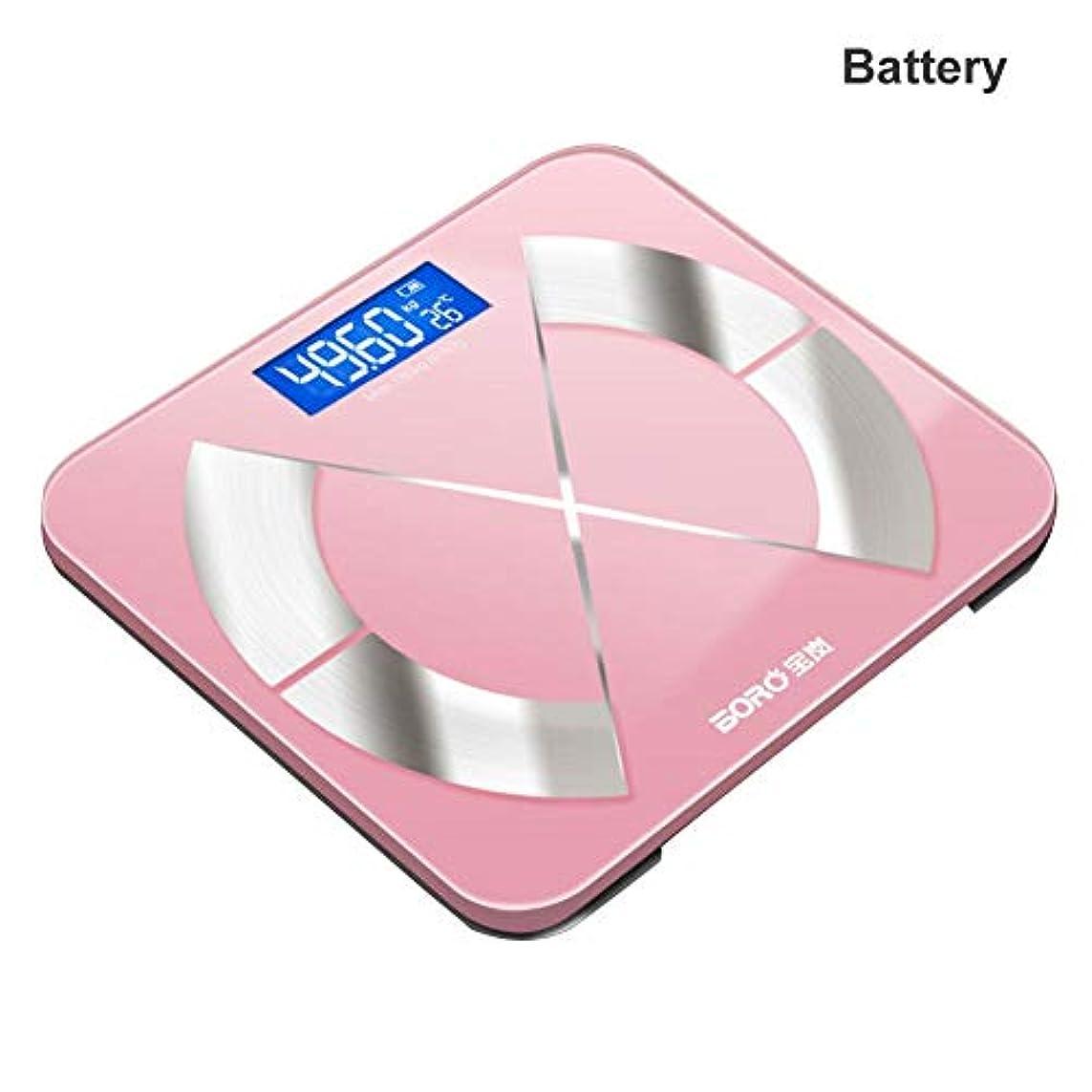 米国正規化お嬢Bluetoothの体脂肪計電子スケールの脂肪は、家庭用の体は大人のスマートスケールが体重計本体を正確なスケールスケール (電池)