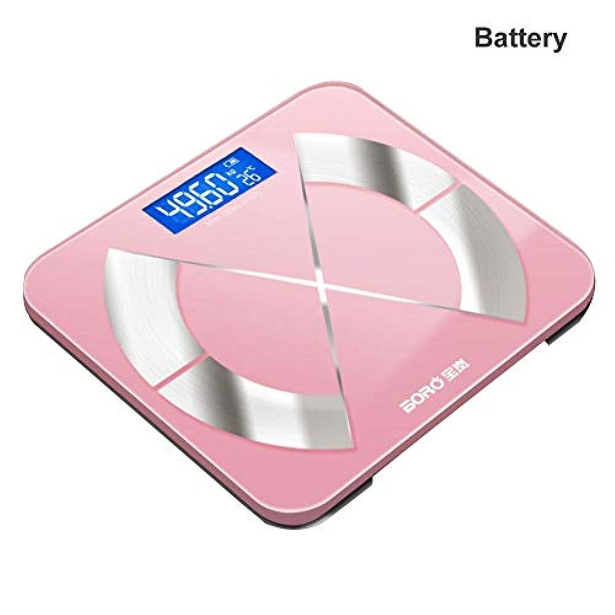 中傷りものBluetoothの体脂肪計電子スケールの脂肪は、家庭用の体は大人のスマートスケールが体重計本体を正確なスケールスケール (電池)