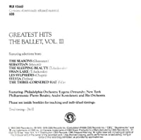 Greatest Hits of the Ballet 3