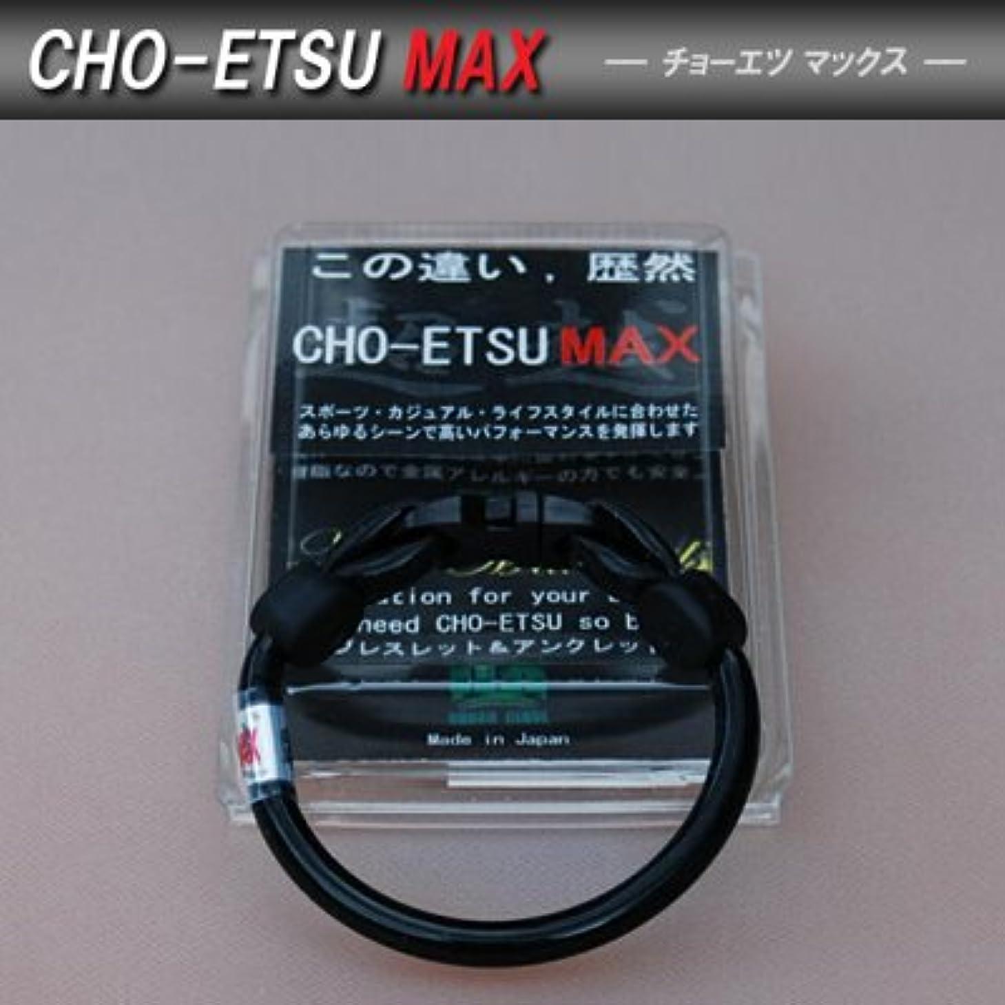 負担お金先住民【セルクルX搭載の健康アクセサリー】【新型】超越MAX CHO-ETSU MAX(チョーエツマックス)  ブレスレット&アンクレットLサイズ ブラック