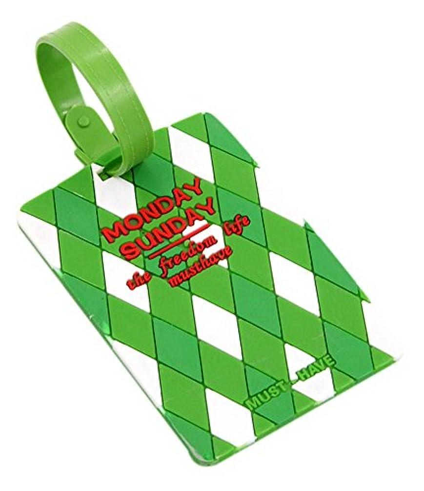 バズ決定する翻訳者旅行荷物袋タグチェックイン荷物カードセットラベルタグペンダントスクエア緑