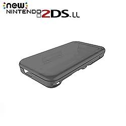 JTLife Nintendo 2DS LL 保護ケース 衝撃吸収 クリスタル クリア 任天堂 New ニンテンドー 2DS LL カバー 透明 PC素材 落下防止 指紋防止 耐スクラッチ全面保護 (ブラック)
