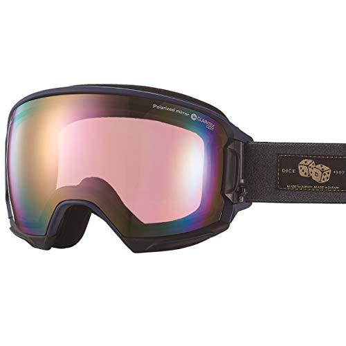 【国産ブランド】DICE(ダイス) スキー スノーボード ゴーグル ハイローラー 偏光 ミラー プレミアムアンチフォグ HR81361MNV