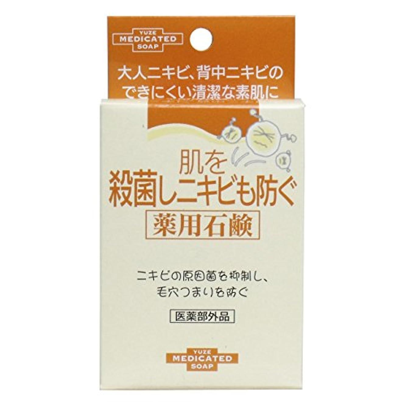 届けるモンスター損傷ユゼ 肌を殺菌しニキビも防ぐ薬用石鹸 (110g)