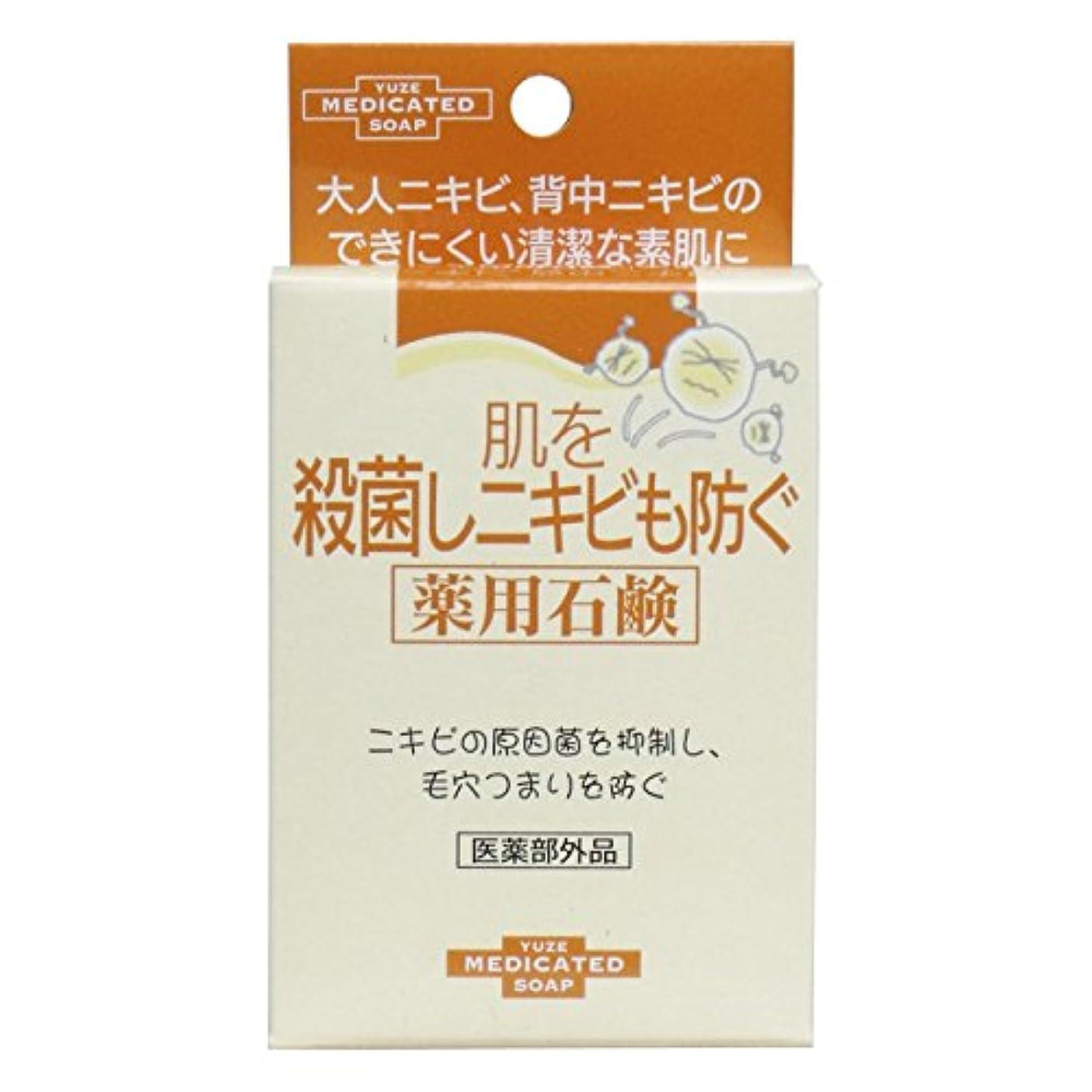 充実閉じ込めるパドルユゼ 肌を殺菌しニキビも防ぐ薬用石鹸 (110g)
