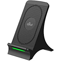 Wireless Charger Qifull Fast Charge Qi Wireless Charging Pad Stand for Galaxy Note 8 S8 S8 Plus S7 Edge S7 S6 Edge Plus Note 5 Standard Charge for Iphone X Iphone 8 Iphone 8 Plus [並行輸入品]