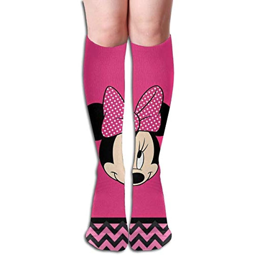 高度電池火山qrriyハッピーミニーヘッドチューブストッキングレディース冬暖かい膝ハイソックスブーツ靴下