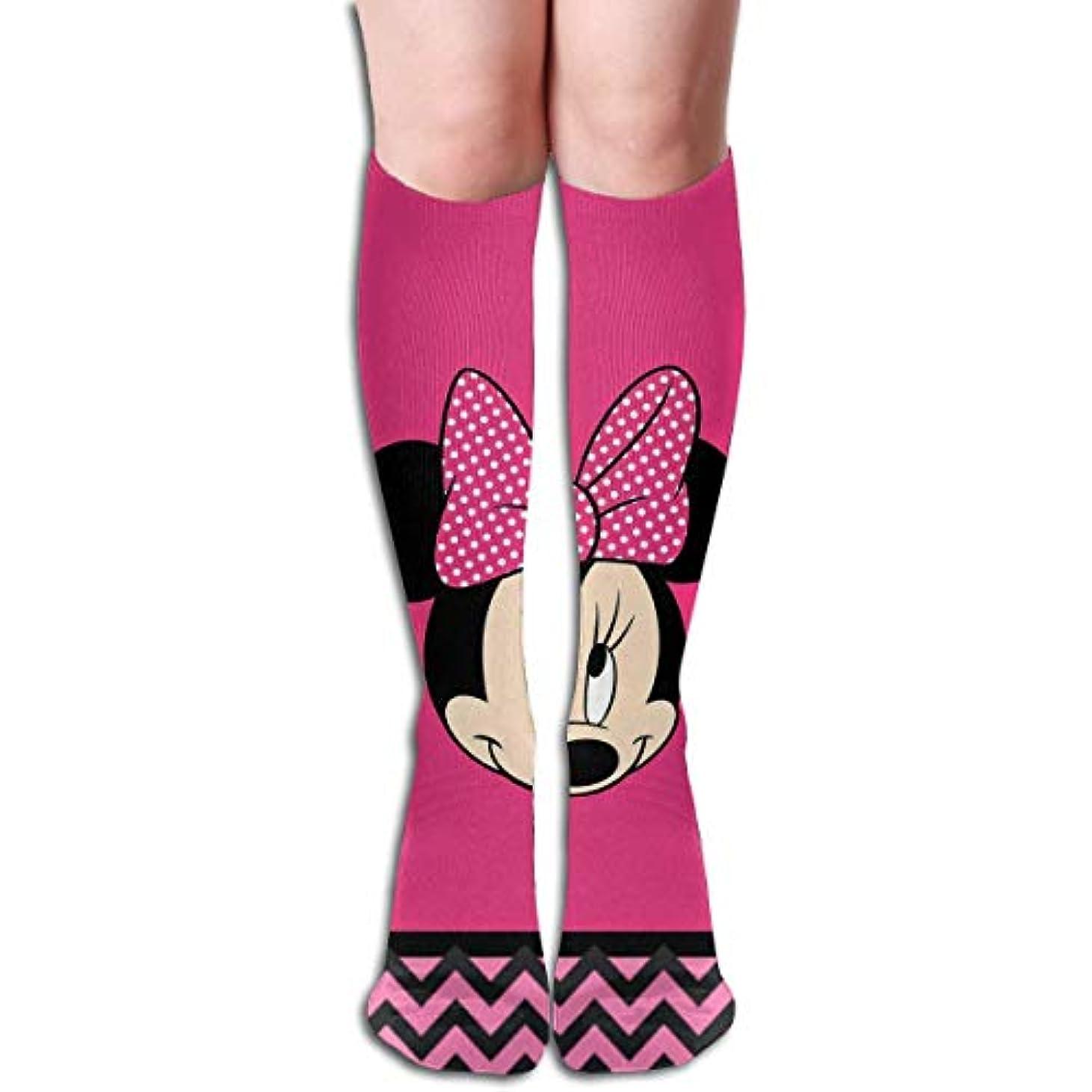 日常的に引き潮堂々たるqrriyハッピーミニーヘッドチューブストッキングレディース冬暖かい膝ハイソックスブーツ靴下