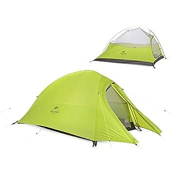 Naturehike NatureHike2の人々のためのアウトドアワンタッチテント二層テント超軽量キャンプのテント(グリーン(20D防水シリカゲル布)) 2人 グリーン(20Dナイロンオックスフォード)