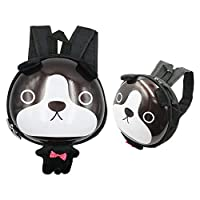 SUPPINNER Preschool Backpack,[2-5 Years Old] 3D Cartoon Animals School Bags Little Kids Cute Mini Waterproof Backpack for Toddler Boys Girls (Black Dog) [並行輸入品]