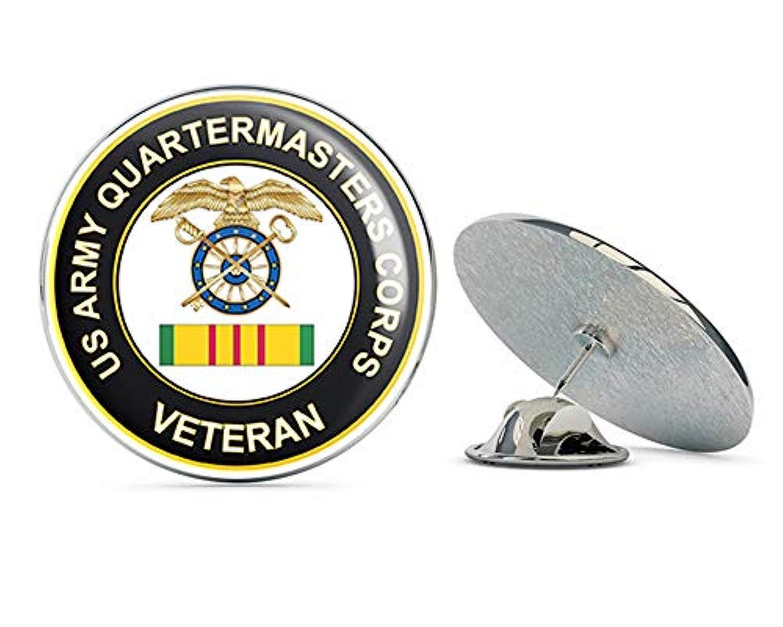 アメリカ陸軍 クオーターター 軍隊 ベトナム軍人 メタル 0.75インチ ラペルハット ピン タイタック ピンバック