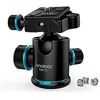 """自由雲台 ボールヘッド クイックシュー付き 360°回転可能 アルミ製 バブル水準器付き 1/4""""ネジ 耐荷重8KG 三脚、モノポッド、スライダ、DSLRカメラビデオカメラに対応"""