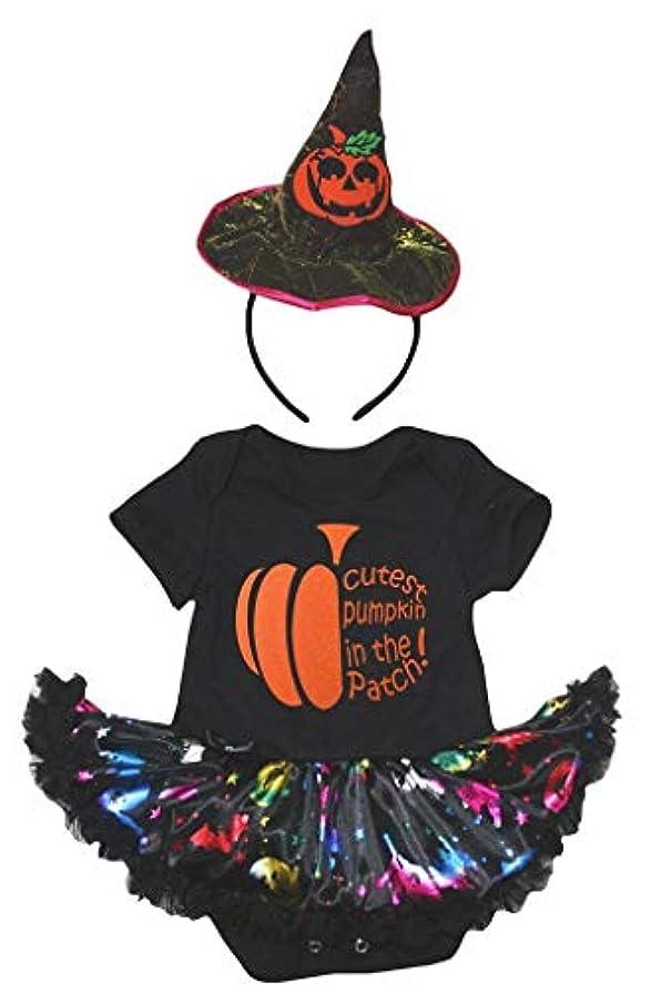 メロンある馬力[キッズコーナー] ハロウィン Cutest Pumpkin パンプキン 子供コスチューム、子供のチュチュ、ベビー服、女の子のワンピースドレス Nb-18m (ブラック, Small) [並行輸入品]