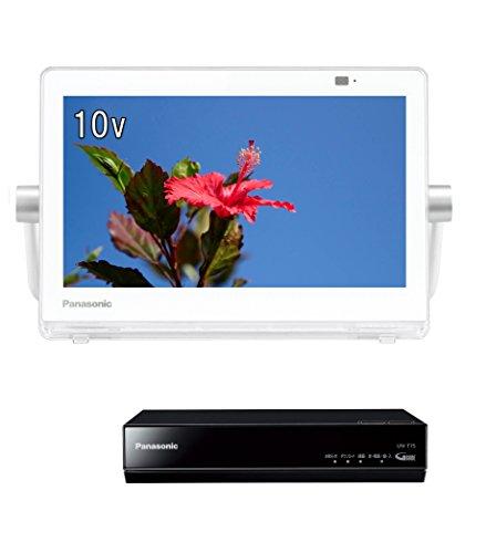 パナソニック 10V型 ポータブル液晶テレビ 防水タイプ 500GB HDDレコーダー付き プライベート・ビエラ ホワイト UN-10T7-W