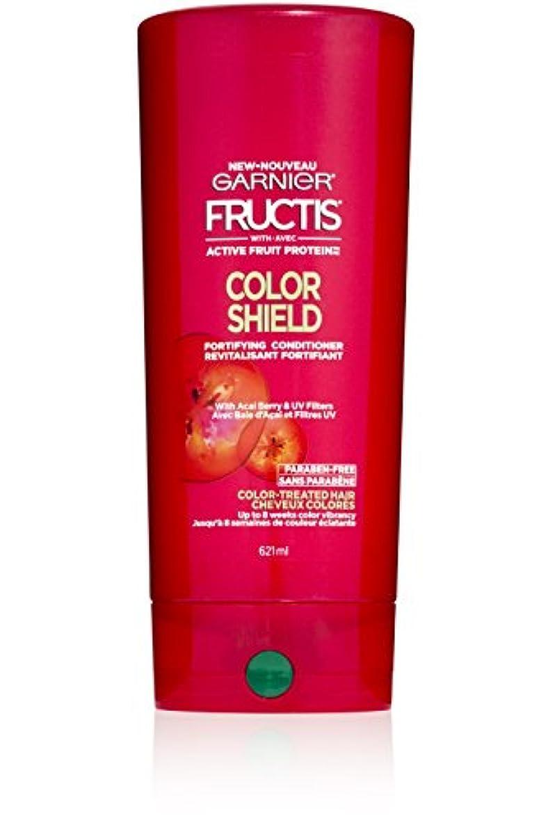 体系的に前述の保持Garnier Fructis色シールドコンディショナー、カラー処理した毛髪、21フロリダ。オズ。