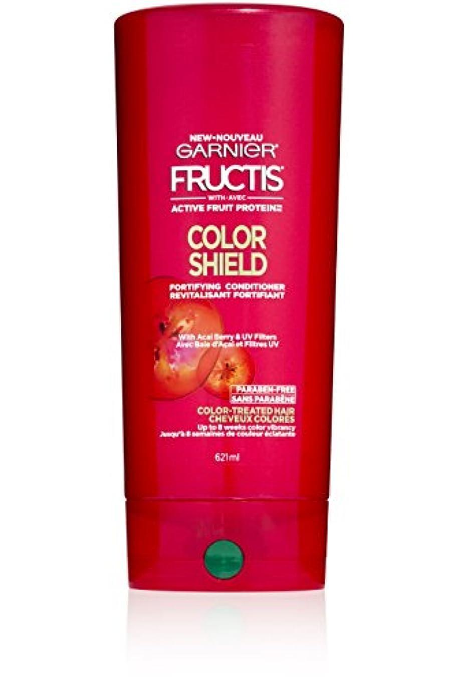 本物脱獄週間Garnier Fructis色シールドコンディショナー、カラー処理した毛髪、21フロリダ。オズ。
