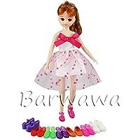 「Barwawa」ランダム5ペアセット ドール用靴 ブライス用 靴セット ジェニー用靴 可愛い 人形用靴セット 子供ギフト
