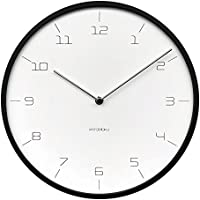 KATOMOKU plywood wall clock 7 ブラック スイープ(連続秒針ムーブメント) km-71B φ304mm