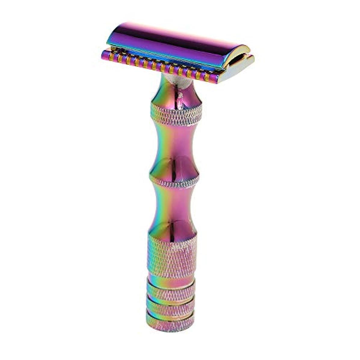 Decdeal ダブルエッジシェービング カミソリ 安全 髭剃り シェービングツール
