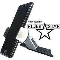 [第二世代 Rider Star ] アルミ使用 高品質 CDスロット/CD口取付型 車載ホルダー (~日本語説明書付属~)/ 360度回転/ [アイフォン] iPhone X/iPhone 8/8 Plus/iPhone 7/7 Plus/ iPhone 6/6 Plus/6S/iPhone5 SE/Samsung [ギャラクシー] Galaxy S7 対応 (3.5–6インチ型 スマートフォン スマホ用) (CD口[第二世代 クランプ式])