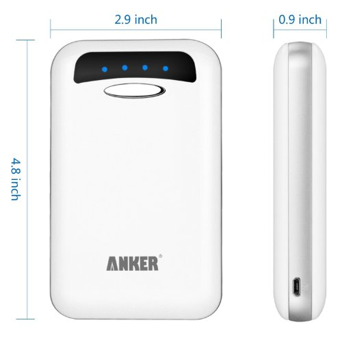 ANKER Astro E4 大容量モバイルバッテリー 13000mAh デュアルUSBポート iPhone5/iPhone4S/iPad/iPod/Android/各種スマホ/Wi-Fiルータ等対応(日本語説明書付) ホワイト AK-79AN13K-WA