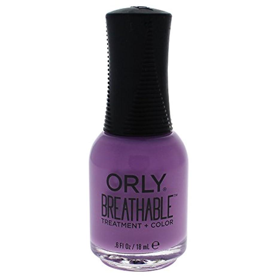 名誉あるおなじみの物理的にOrly Breathable Treatment + Color Nail Lacquer - TLC - 0.6oz / 18ml