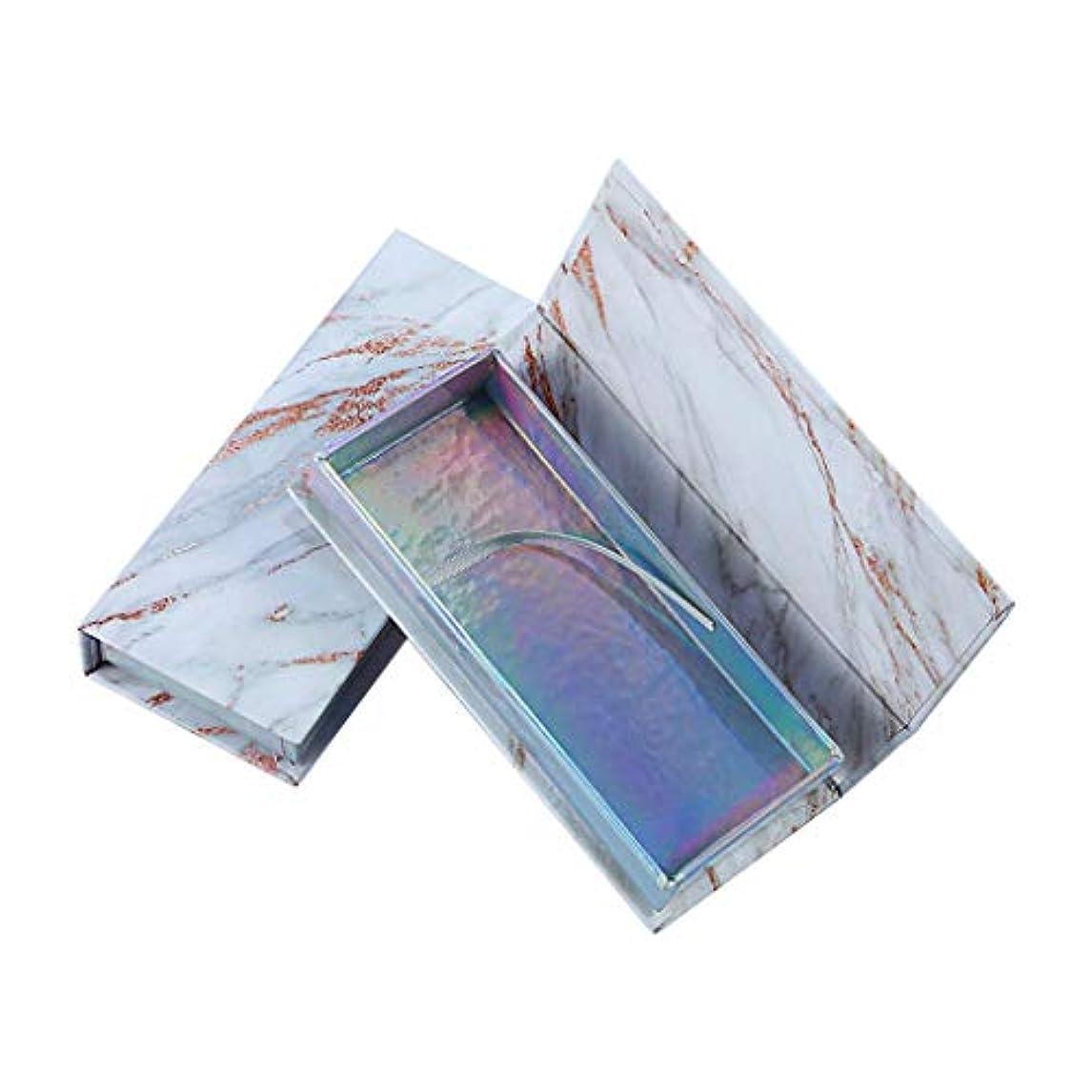 すり減るゆりかご見るビューティー 収納ボックス ファッション シンプル つけまつげ アイラッシュ ボックス メイクアップ ビューティー 収納ボックス 大理石 まつげボックス (ブラック)