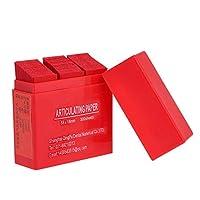 Rabugoo セクシー 300シート/ボックス歯科関節式ペーパーストリップ歯科用ラボ用製品ツール口腔用歯のケア用品 red