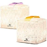 【2コセット】ソーラーパフ ミニ (solar puff mini)/ パープル・オレンジベルト/ウォームライト(暖色)