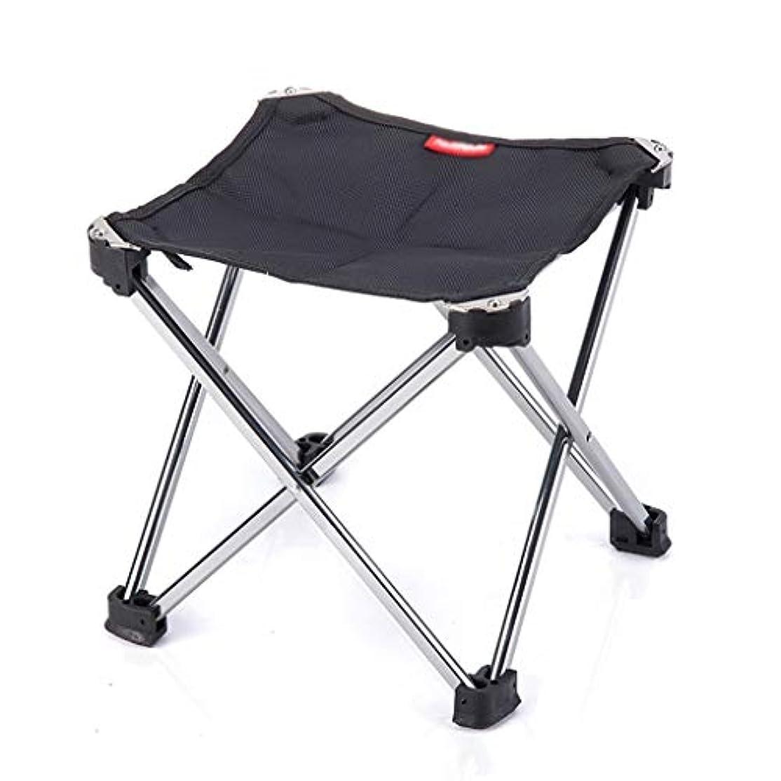 コカインベテランベックス折りたたみ椅子キャンプチェア釣りチェア 屋外ガーデンチェアラウンジチェア ホーム釣りチェアアートスケッチチェア 耐荷重100kg (Color : Black, Size : 25*25*28cm)