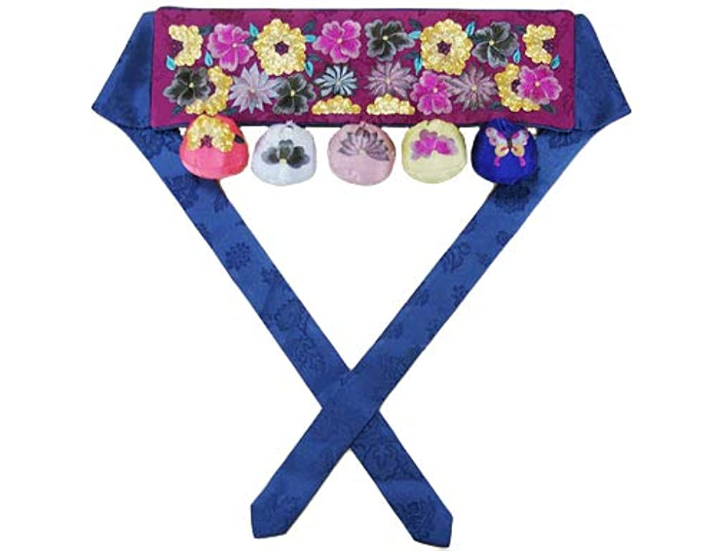 もっと宣言する聖なる韓国1歳のお誕生日用 手刺繍祝い帯トルティ?コギ■tolti-16-s【ギフト】【御百日祝】【誕生祝】