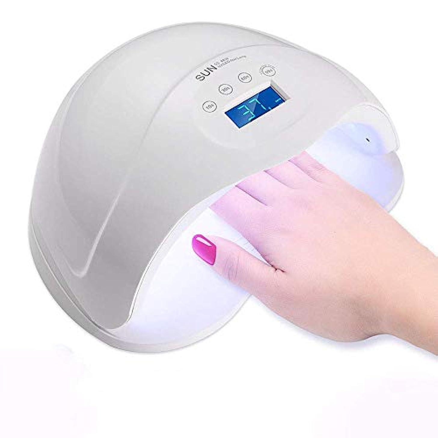 示す厚くするシリンダー48W UVネイルランプスマートセンサー速乾性痛みのないモードLEDネイルドライヤー4タイマー設定&24ダブル光源ビーズ