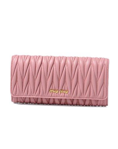 (ミュウミュウ) MIU MIU 二つ折り長財布 ROSA ピンク MATELASSE 5MH109 N88 F0028 [並行輸入品]