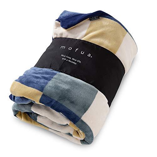 mofua ( モフア ) 掛け布団カバー 布団を包める ぬくぬく 毛布 ダブル チェック柄 グリーン 402503C9