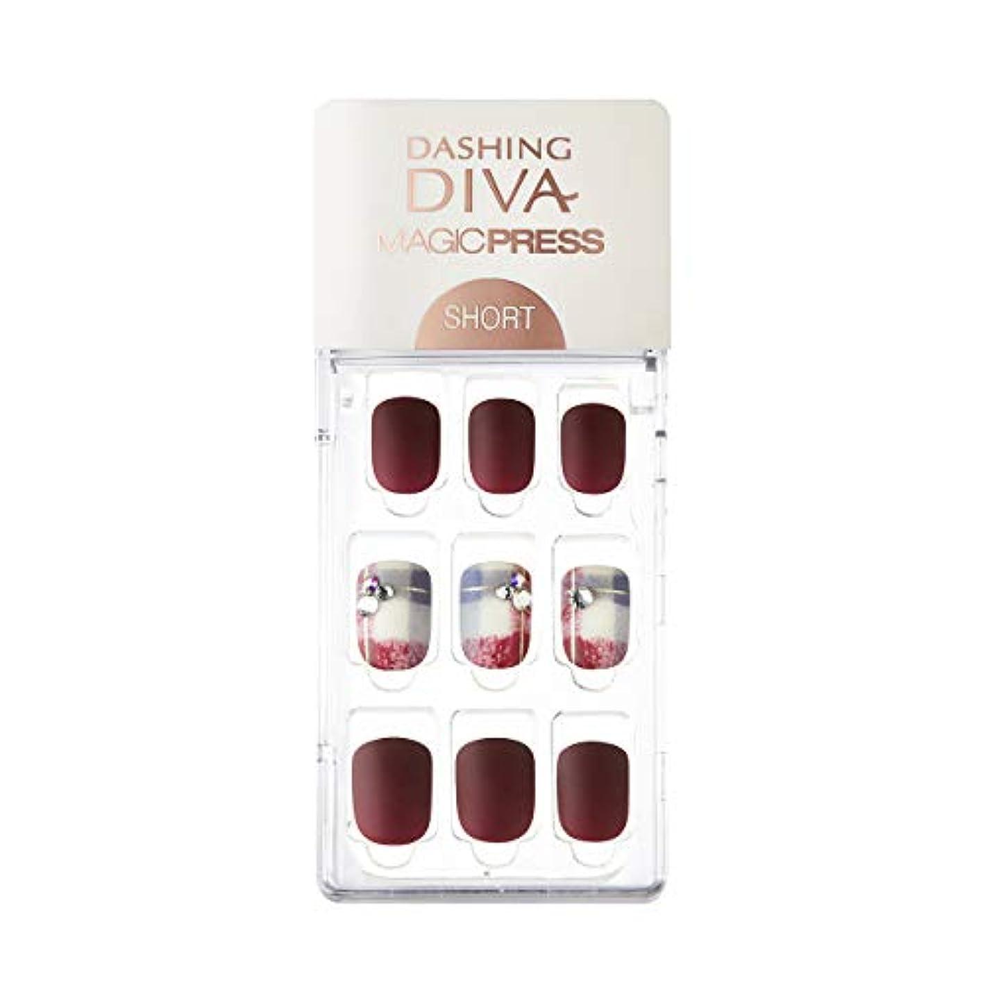 ダッシングディバ マジックプレス DASHING DIVA MagicPress MDR227SS-DURY+ オリジナルジェル ネイルチップ Vintage Burgundy