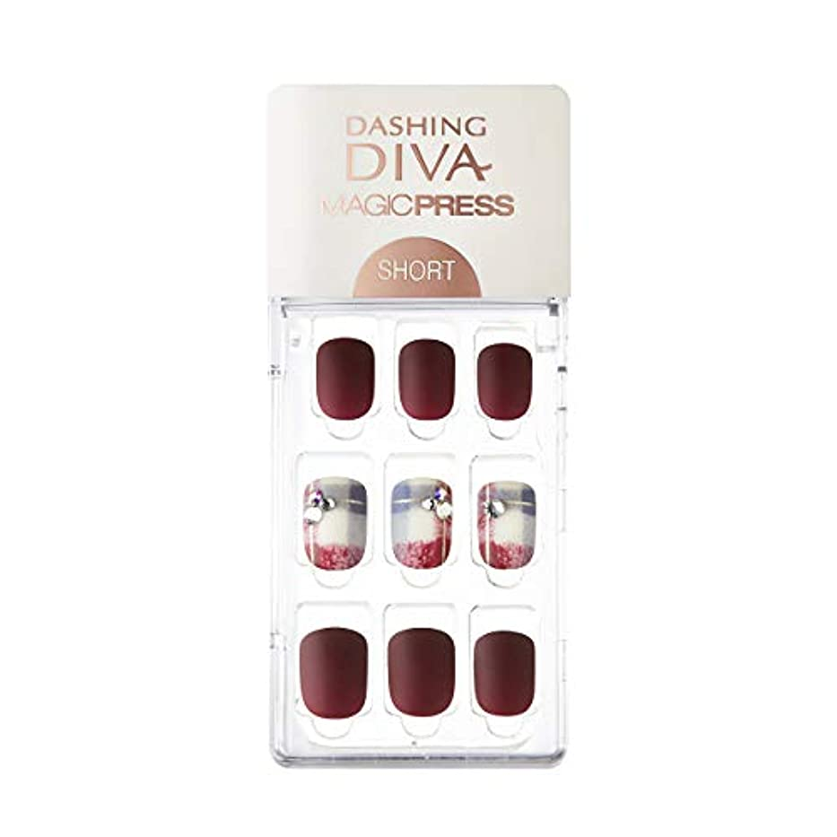 請う起点韻ダッシングディバ マジックプレス DASHING DIVA MagicPress MDR227SS-DURY+ オリジナルジェル ネイルチップ Vintage Burgundy
