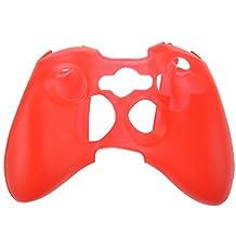 スキンケースカバー ,SODIAL(R)シリコンスキンケースカバー XBOX 360コントローラー用 新しい保護ケース 赤