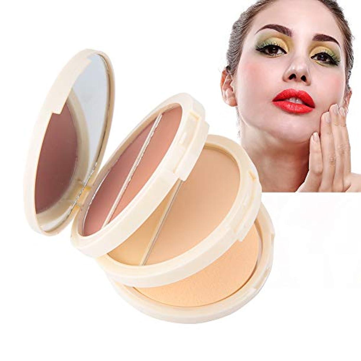 成熟したある効率的化粧品、オイル管理および防水および長続きがする効果のための1つのコンシーラーの粉の赤面粉に付き3つ