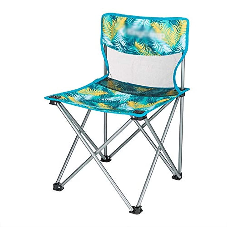 フェンスグローブ後ろに背もたれ付き鉄製屋外折りたたみ椅子、インストールする必要はありません、持ち運ぶことができます、ピクニックに使用されます。キャンプ釣りバーベキュースケッチ、42×42×66cm、包装容量15×66cm