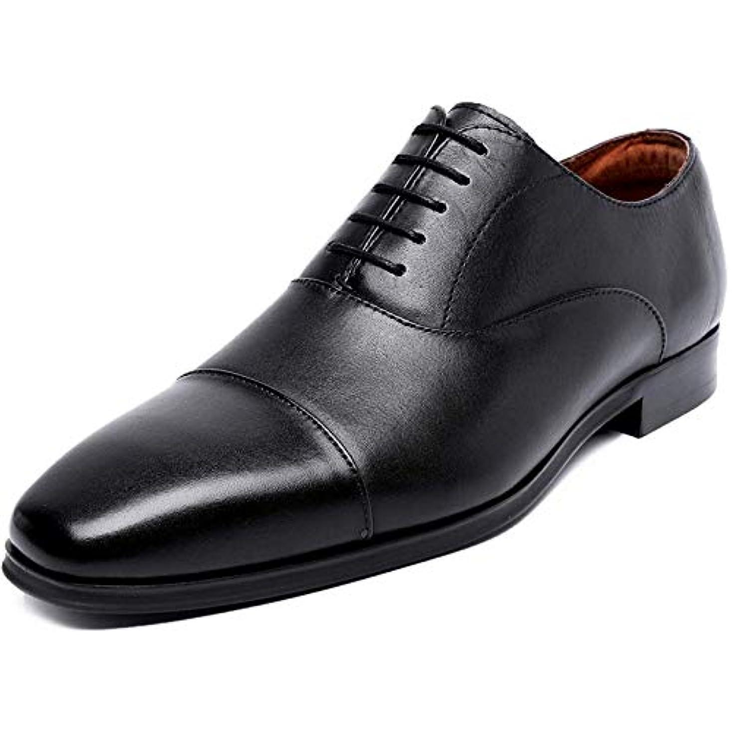 手つかずの数値ショット[ロムリゲン] Romlegen ビジネスシューズ メンズ 紳士靴 革靴 本革 高級靴 ストレートチップ 履きやすい