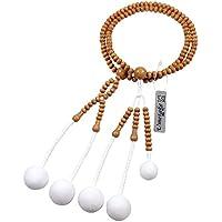 Umetake梅竹 日蓮宗1尺 梅木数珠 綿房 男性用数珠 正式数珠