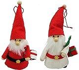 丸和貿易 クリスマス飾り ノースクリスマス プレゼントサンタ 2個セット 300415601
