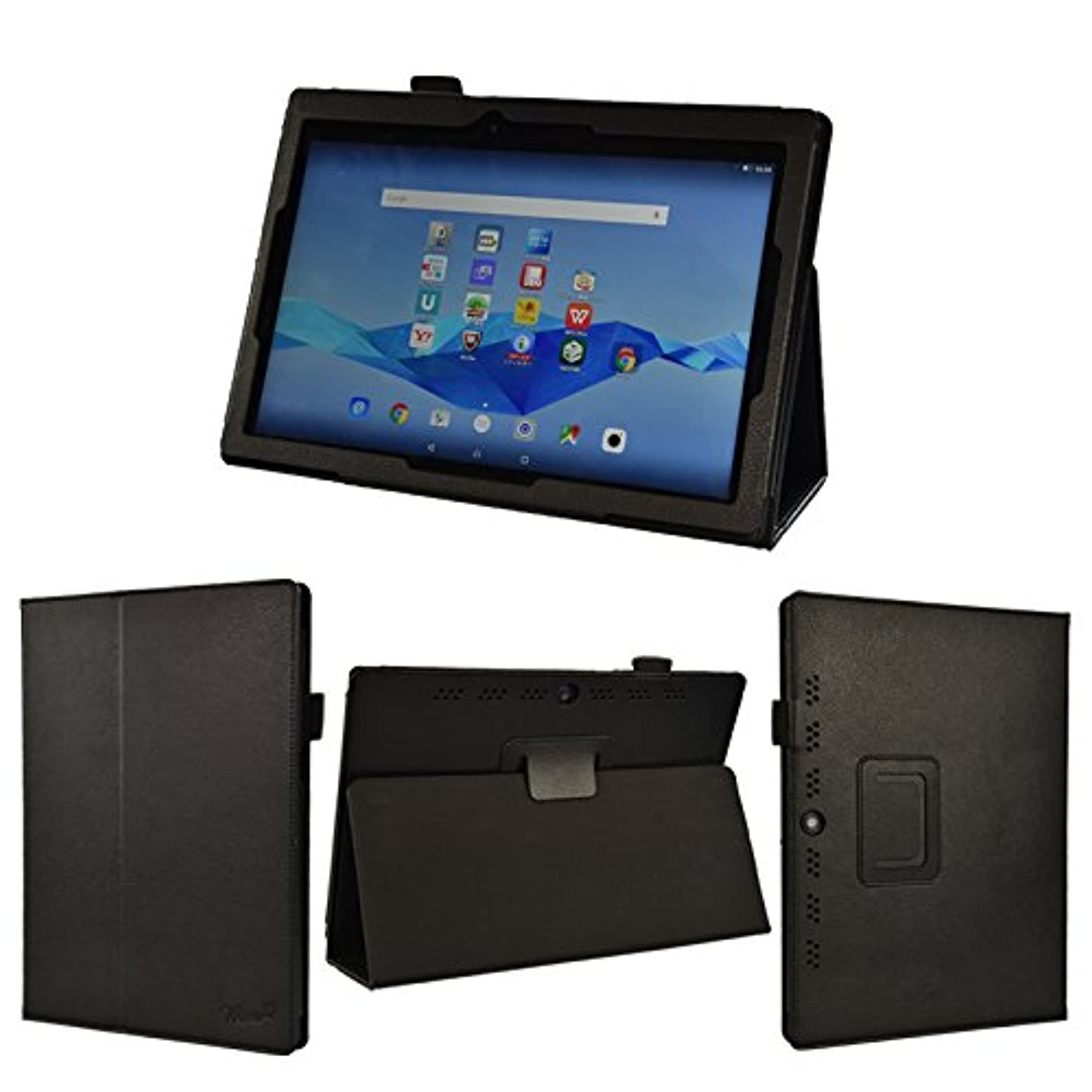 格差コーラス日の出wisers NEC LAVIE Tab E TE510/BAL (PC-TE510BAL) ビジネス向けモデル THY-A0SD17029 (K-OPT仕様) THY-BOSD17027 10.1インチ タブレット 専用 ケース カバー [2015 年 新型] ブラック