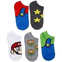 Mario Boy's 5 Pack No Show Socks