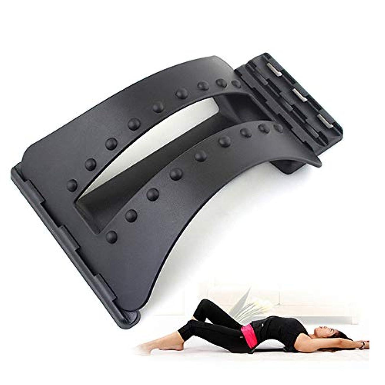 不機嫌チョコレート実施する背中マッサージストレッチャーフィットネスマッサージ機器ストレッチリラックスストレッチャー腰椎サポート脊椎疼痛救済カイロプラクティックドロップシップ