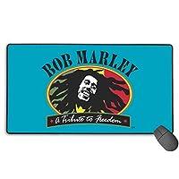 Bob Marley ボブ・マーリー マウスパッド デスクパッド 水で洗えるマウスパッド 家庭 広く操作できる 高級感 使い心地も最高 40*75cm