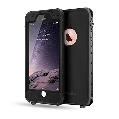 Easylife iPhone 6S Plus/iPhone 6 Plus ケース 最新版 防水 防水保護等級 IP68 耐衝撃 防塵 ブラック
